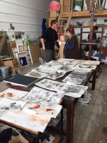 Students work in Naomis studio